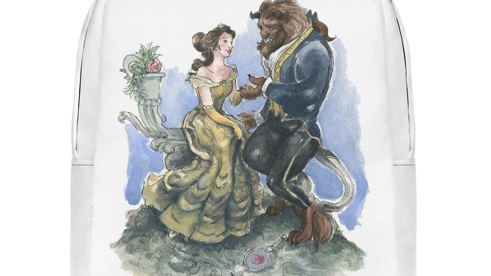 Disney Beauty and the Beast Watercolor Original Design Minimalist Backpack