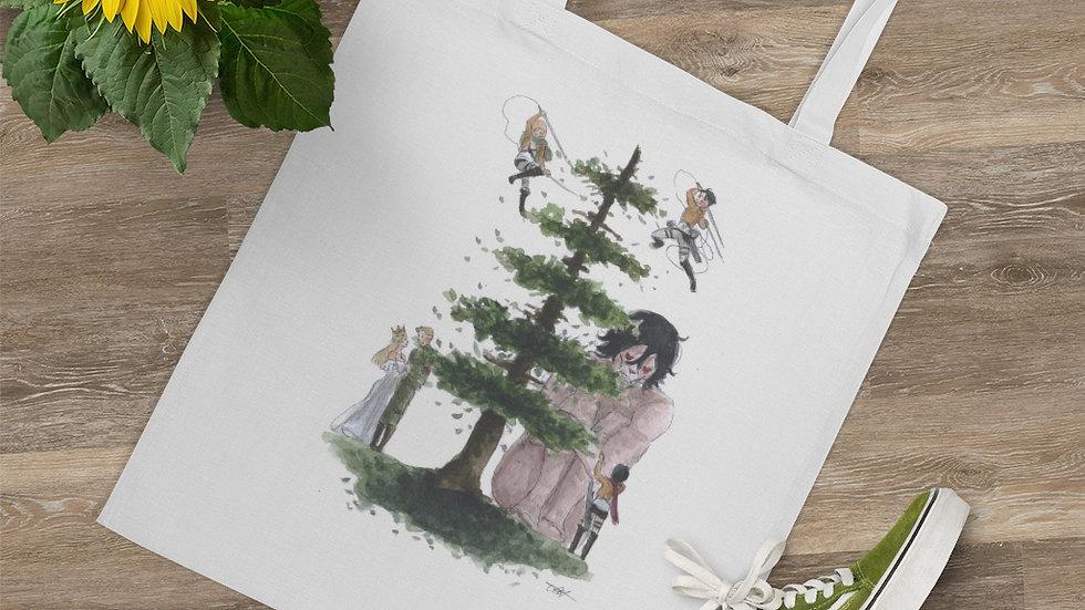 Attack on Titan Watercolor Original Design Tote Bag