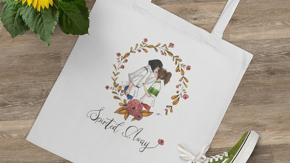 Studio Ghibli Spirited Away with Golden Frame Tote Bag