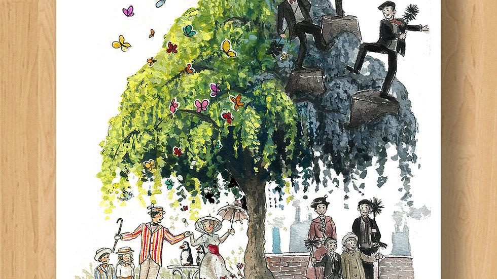 Disney Mary Poppins Original Design Print