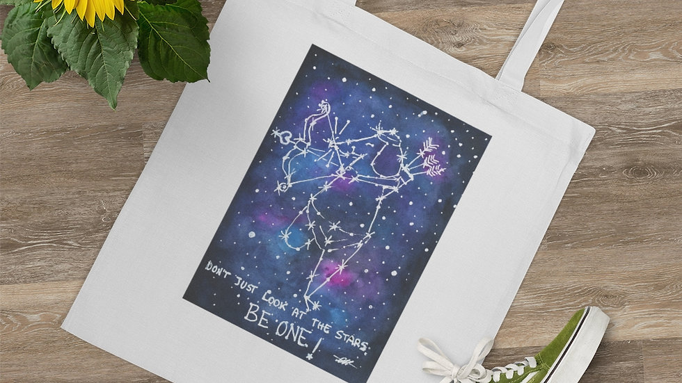 The Mouse Constellation Watercolor Original Design Tote Bag