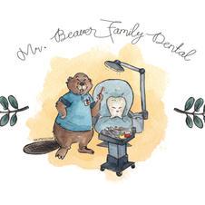 Mr Beaver Family Dental Logo