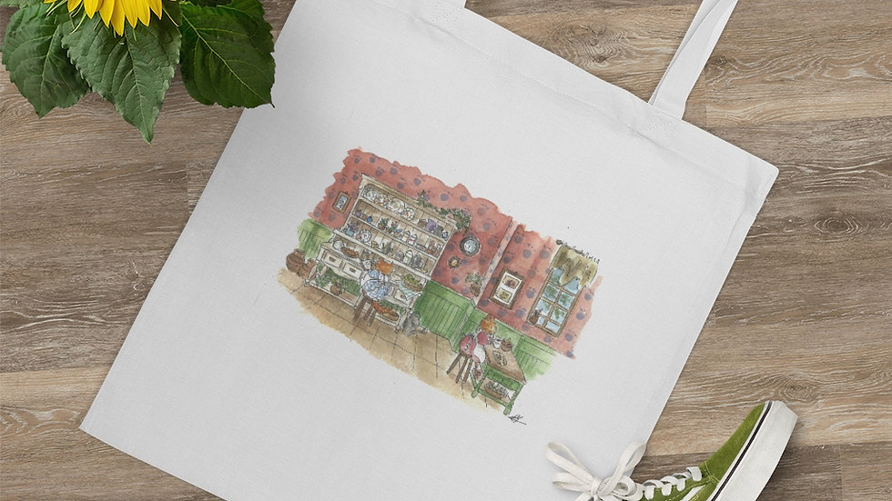 Cooking Cats Watercolor Original Design Tote Bag