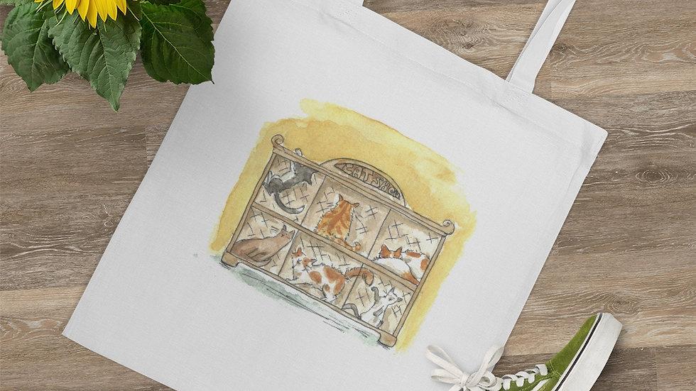 Cats Parade Watercolor Original Design Tote Bag