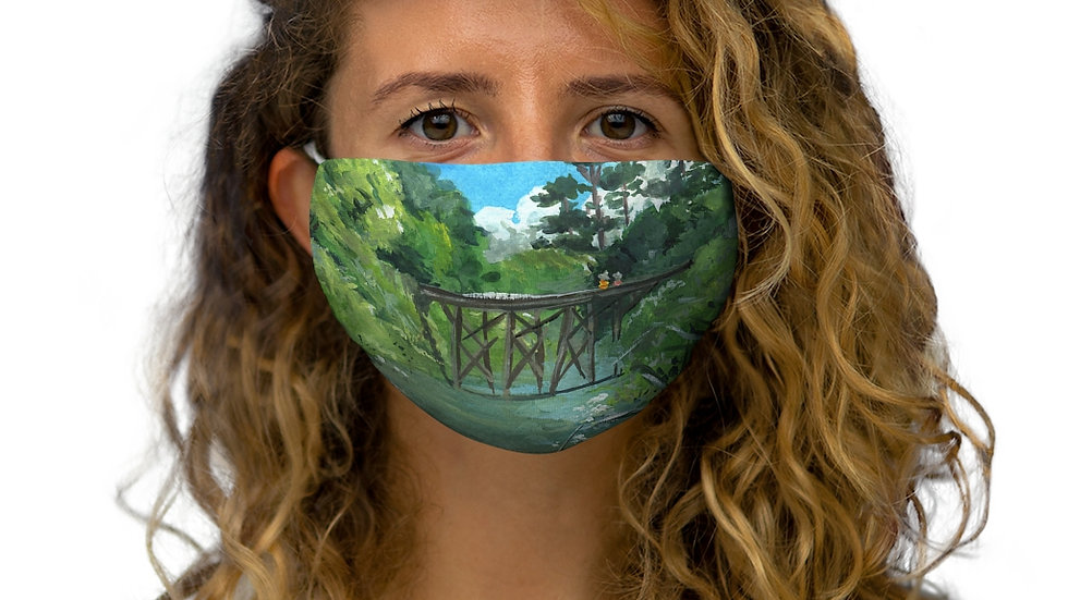 Studio Ghibli Inspired Gouache Painting Snug-Fit Polyester Face Mask
