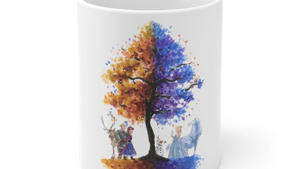 Disney Pixar Frozen Tree Watercolor Original Design Ceramic Mug (EU)