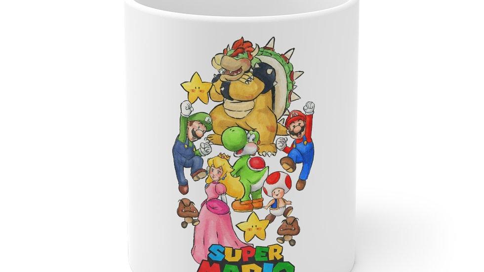 Super Mario Bros Watercolor & Gouaches Original Design Ceramic Mug (EU)