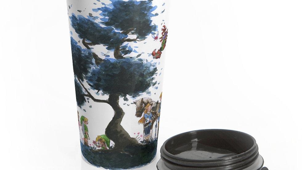 Legend of Zelda Nintendo Tree Stainless Steel Travel Mug