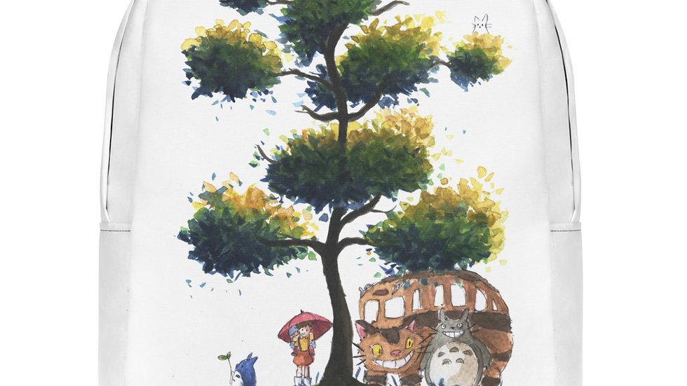 Studio Ghibli Totoro Catbus Watercolor Original Design Minimalist Backpack