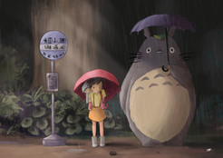 Totoro Waiting for Bus