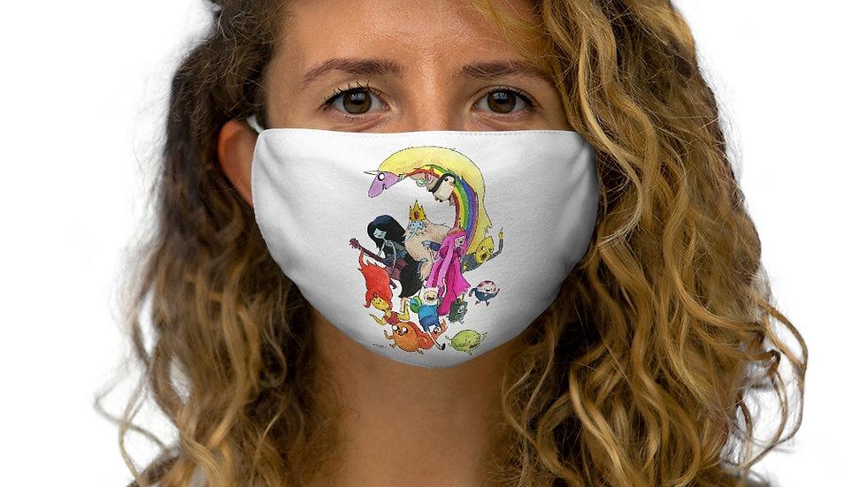 Adventure Time Watercolor Original Design Snug-Fit Polyester Face Mask