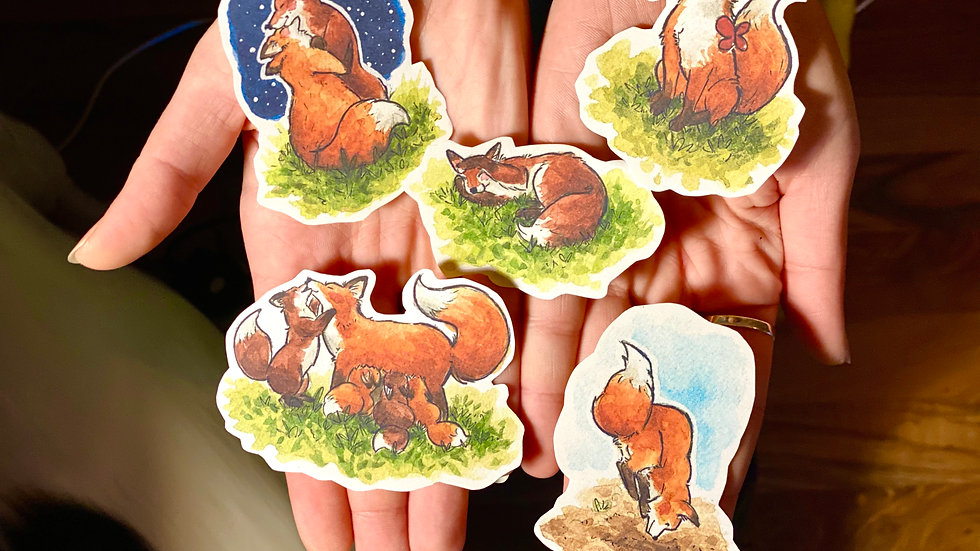 Foxes Stickers Bundle