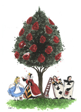 Alice In Wonderland Disney Tree