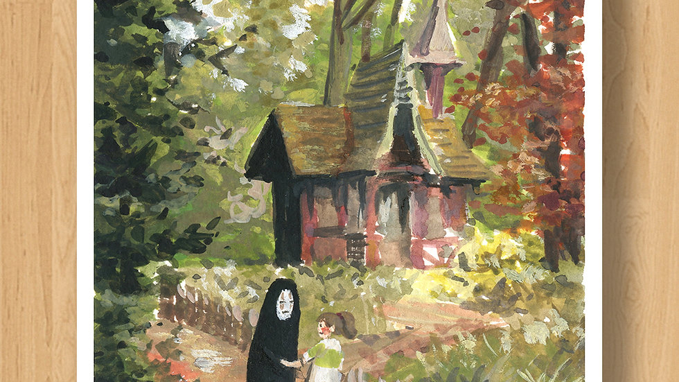 Cottage in the Forest Original Design Print