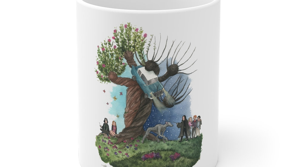 Harry Potter with Snape Tree Watercolor Original Design Ceramic Mug (EU)