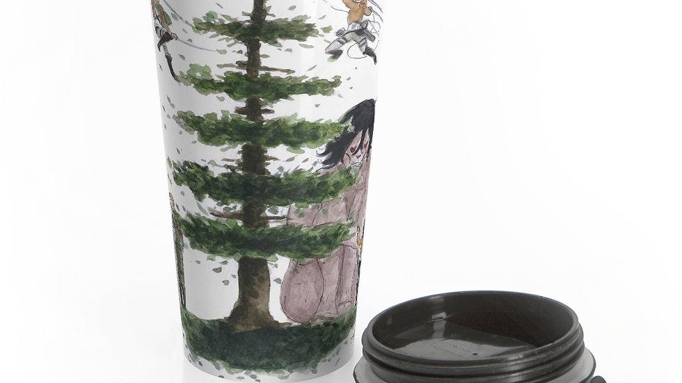 Attack on Titans Watercolor Original Design Stainless Steel Travel Mug
