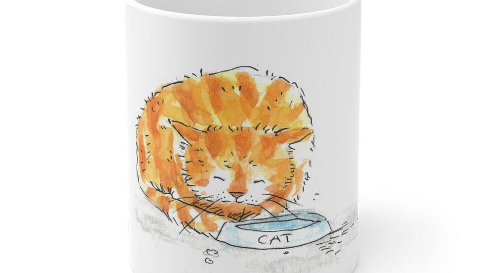 Ginger Cat Watercolor Original Design Ceramic Mug (EU)