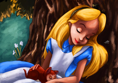 Alice In Wonderland Sleeping