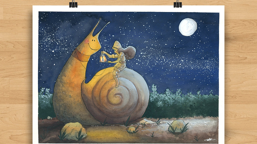 The Snail's Journey Original Design Print