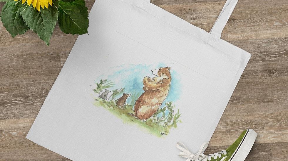 Bears Family Watercolor Original Design Tote Bag
