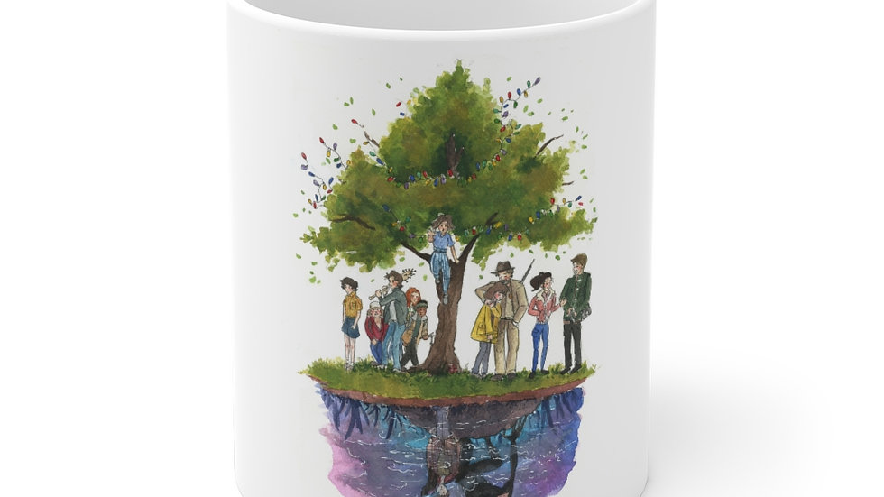 Stranger Things Tree Netflix Watercolor Original Design Ceramic Mug (EU)