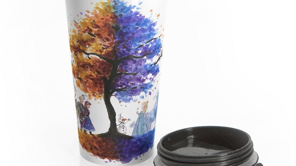 Disney Pixar Frozen Watercolor Original Design Stainless Steel Travel Mug