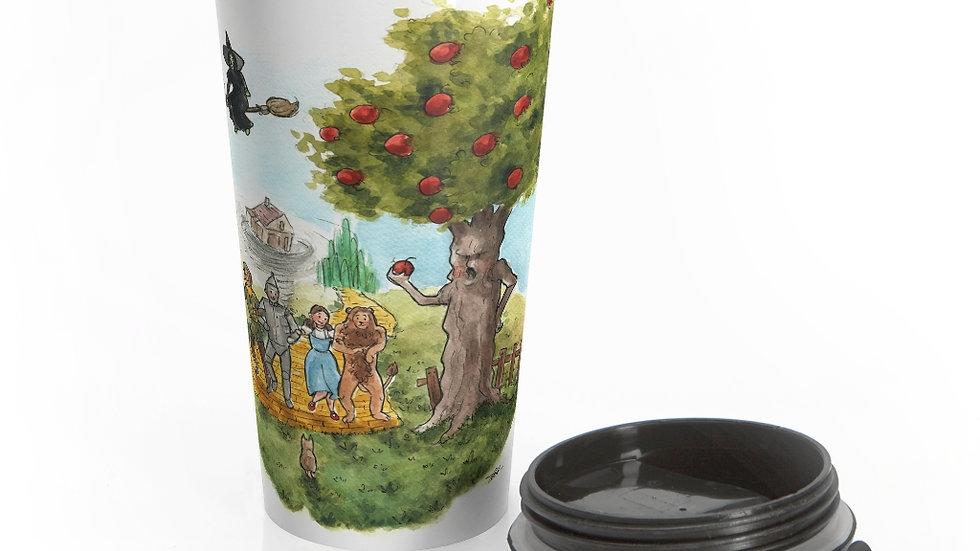 The Wonderful Wizard of Oz Watercolor Original Design Stainless Steel Travel Mug