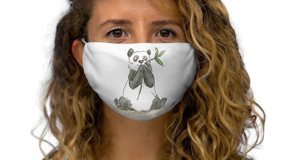 Happy Eating Panda Watercolor Original Design Snug-Fit Polyester Face Mask