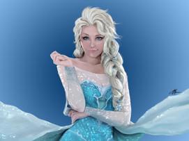 frozen realistic Elsa