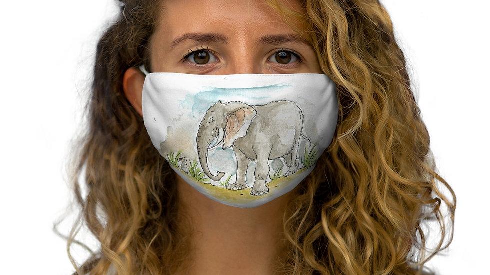 Cute Elephant Watercolor Original Design Snug-Fit Polyester Face Mask