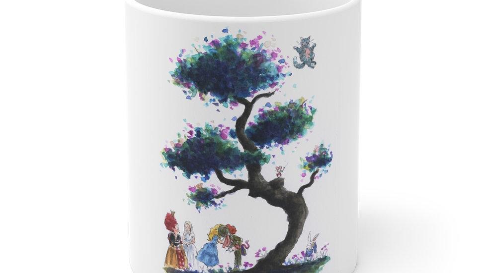 Tim Burton Alice in Wonderland Watercolor Original Design Ceramic Mug (EU)
