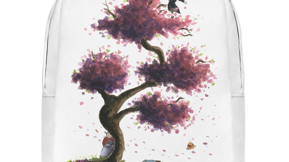 Studio Ghibli Howls Moving Castle Watercolor Original Design Minimalist Backpack
