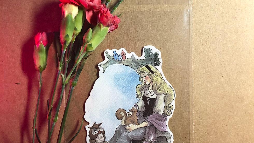 Disney Princess Aurora Original Design Handmade Sticker