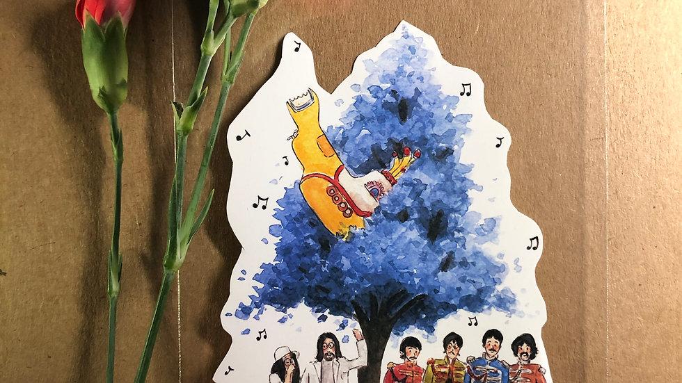 The Beatles Yellow Submarine Original Design Handmade Sticker