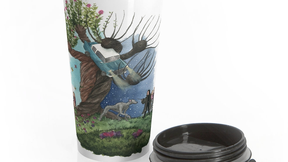Harry Potter with Snape Watercolor Original Design Stainless Steel Travel Mug