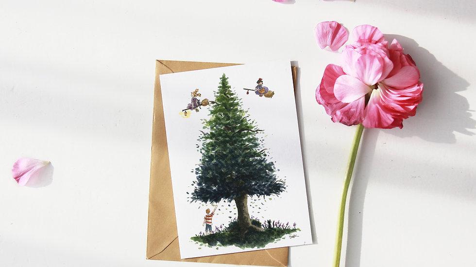 Studio Ghibli Kiki's Delivery Service Watercolor Original Design Greetings Card