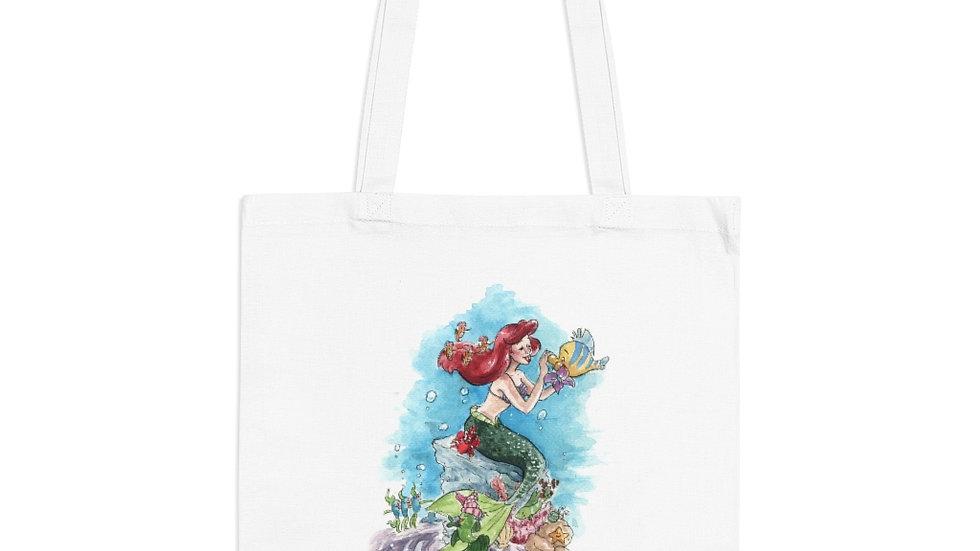 Disney Little Mermaid Watercolor Original Design Tote Bag