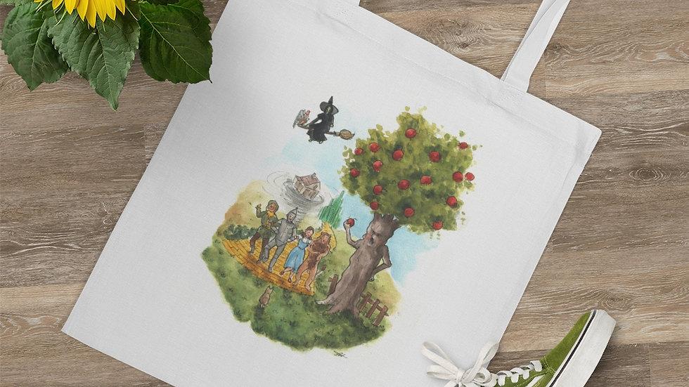 The Wonderful Wizard of Oz Watercolor Original Design Tote Bag