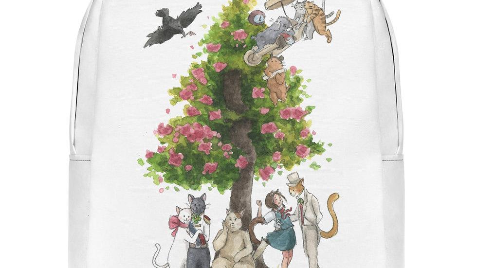 Studio Ghibli Cat's Return Watercolor Original Design Minimalist Backpack