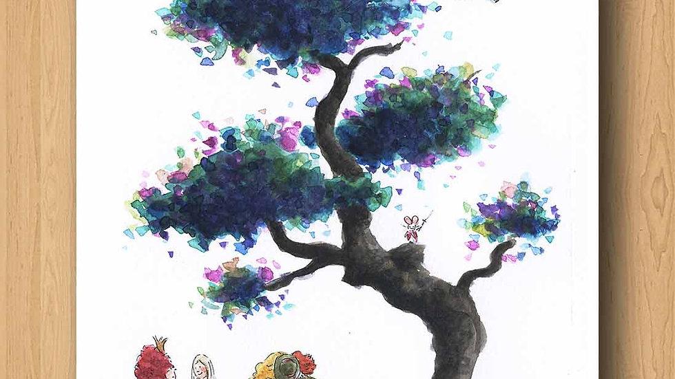 Tim Burton Alice in Wonderland Original Design Print