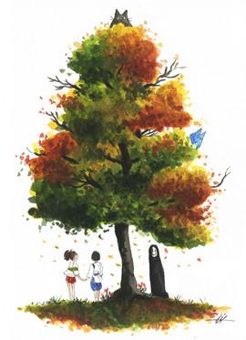 Spirited Away and Totoro Inspired Tree
