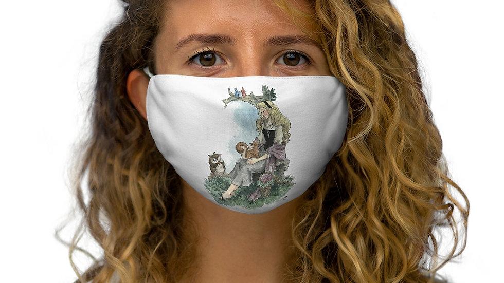 Disney Princess Aurora Watercolor Original Design Snug-Fit Polyester Face Mask