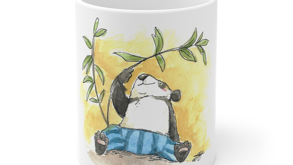 Happy Little Panda Watercolor Original Design Ceramic Mug (EU)