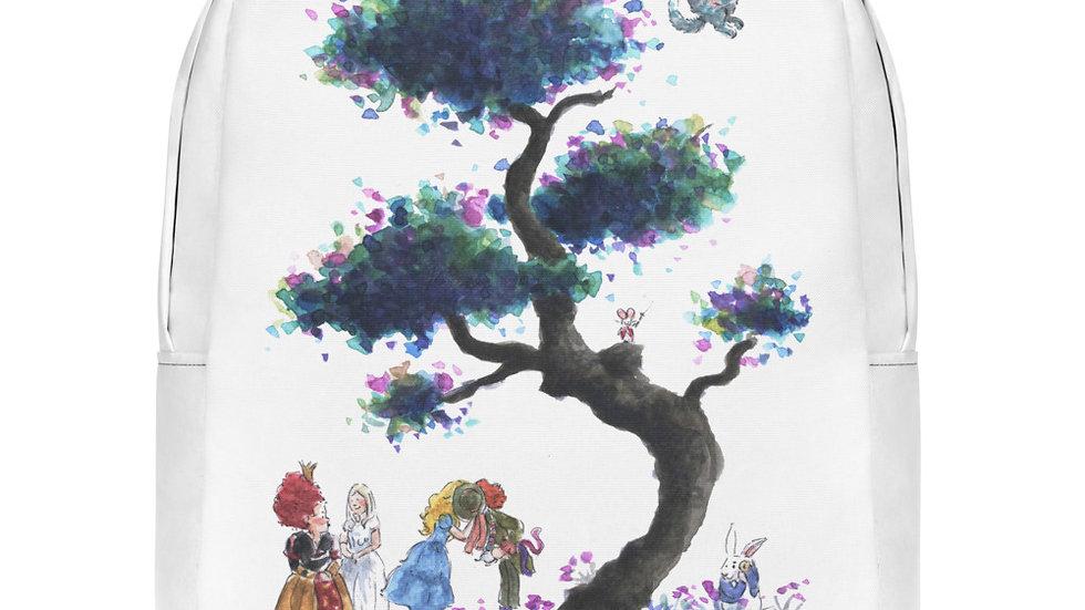 Tim Burton Alice in Wonderland Watercolor Original Design Minimalist Backpack