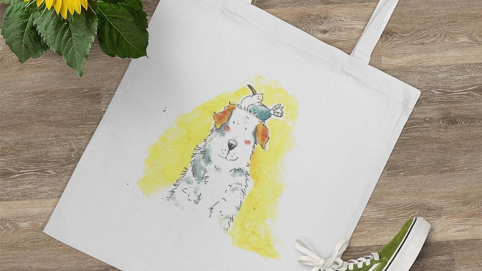 Seagull & Dog Watercolor Original Design Tote Bag