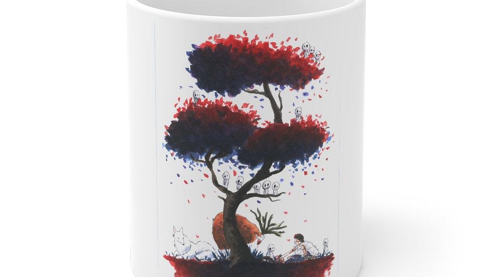 Studio Ghibli Princess Mononoke Watercolor Original Design Ceramic Mug (EU)