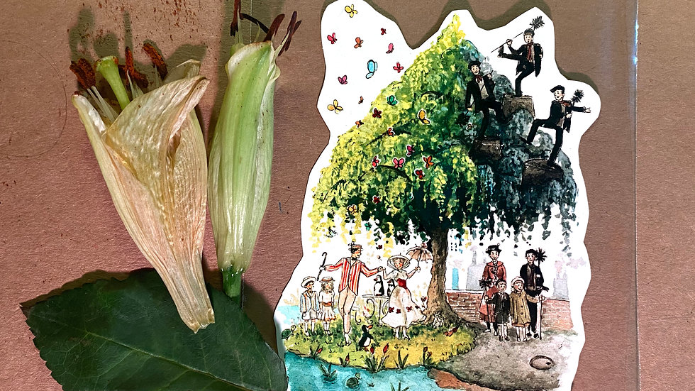 Disney Mary Poppins Original Design Handmade Sticker