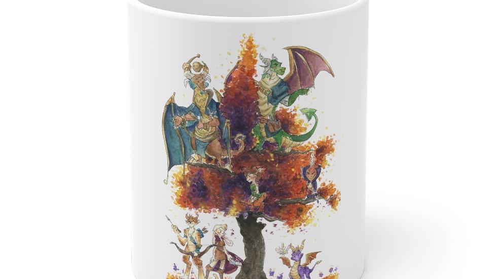 Spyro the Dragon Watercolor Original Design Ceramic Mug (EU)