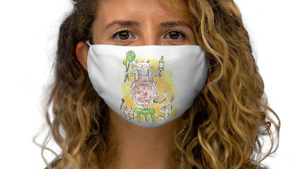 Cat vs Mice Watercolor Original Design Snug-Fit Polyester Face Mask