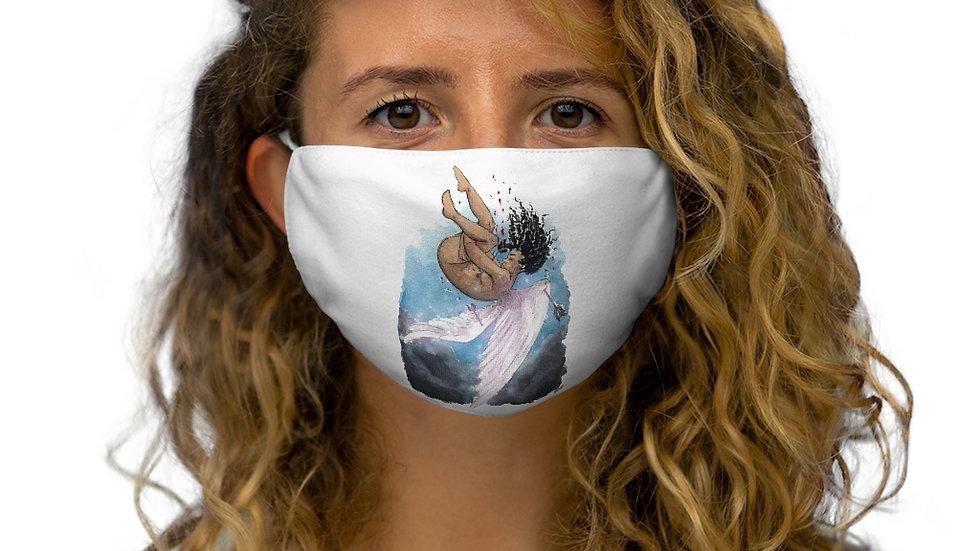 Black Lives Matter Watercolor Original Design Snug-Fit Polyester Face Mask